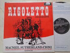 Verdi Rigoletto Highlights Sanzogno UK Decca Swb Sxl 6008 NM