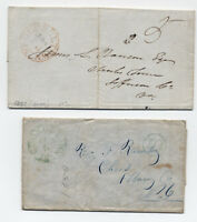 Pair of Georgetown DC Stampless Covers 1847,1850 one green [y1452]