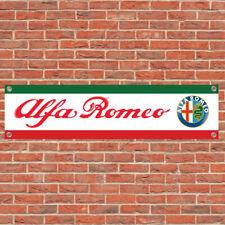 Alfa Romeo Motorsport Track Car Racing Sign Garage Workshop Banner Display