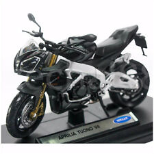 Welly 1:18 Die-cast Aprilia Tuono V4 Motorcycle Black Color Model Collection New