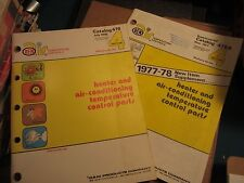 1978 OEM air conditioning and heater parts catalog set