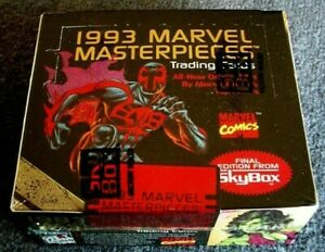 1993 SkyBox MARVEL MASTERPIECES Trading Cards ~ Factory Sealed Box of (36) Packs