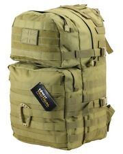 K Medium Molle Army style Tactical Assault Pack Rucksack 40 Litre Tan  backpack