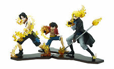 One Piece Anime Luffy, Ace & Sabo Attack Styling Figurine Set