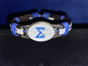 Phi Beta Sigma Leather adjustable Bracelet