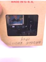 Vtg Color Photo 35mm Slide 1949 Radio Transmitter Equipment 366