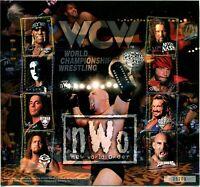 ST Vincent Grenadines WCW Wrestling Championship Souvenir Sheet Postage MINT NH
