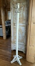 Vintage Wood Coat Rack Stand Hall Tree Farm House