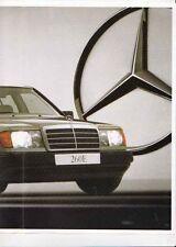 Late 1980s MERCEDES BENZ 260E W124 Australian 8 Page Brochure Folder