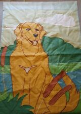 Large Outdoor Flag Golden Retriever Dog 40 X 28 Heavy Stitching Cat tails