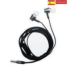 Auriculares Para BQ Aquaris M5.5 Con Microfono Alta Calidad METAL Gris Headphon