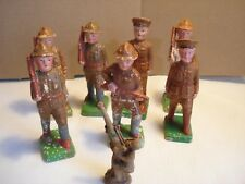 Vintage...Lot...OF...8...Pcs....Toy...Clay....WWI....Doughboy...Soldiers...Japan