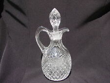 Vintage Pineapple and Fan Cruet with Stopper