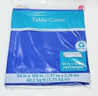 """54 x 108"""" Disposable Plastic Rectangular Table Cover Tablecloth Birthday Party"""