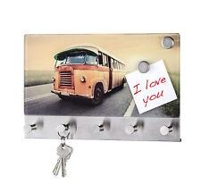 Wenko CRISTAL Pizarra magnética VINTAGE Autobús Board glasboard memo armario