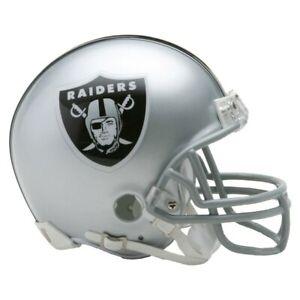 NFL Las Vegas Raiders Mini Helmet VSR4 Riddell Football Boxed Footballhelm