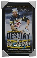 NORTH QUEENSLAND COWBOYS 2015 NRL PREMIERS SIGNED VERTIRAMIC JOHNATHAN THURSTON