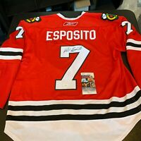 Phil Esposito Signed Authentic Chicago Blackhawks Game Model Jersey With JSA COA