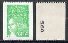 STAMP / TIMBRE FRANCE NEUF N° 3458b ** MARIANNE / ROULETTE / N° noir au dos