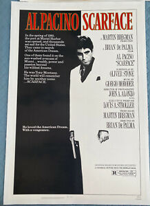 Scarface Original LINEN BACKED US One Sheet Film Poster 1983 Al Pacino