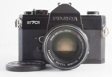 FUJICA ST701 35mm FILM BLACK SLR WITH SMC TAKUMAR 50mm F/1.4 LENS