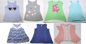 Clothing Lot Girls Shirts 7 Pieces Small 6/6X Graphic & Lace Tank Tops All EUC!
