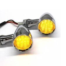 Bernstein Chrom Motorrad LED Blinker Lauflicht Laufeffekt 10mm für Honda Yamaha