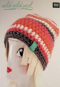 Rico Wild Wild Wool Crochet Hat Kit