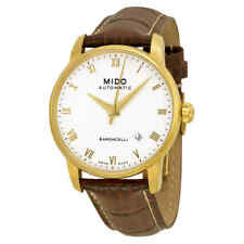 Mido Baroncelli Automatic White Dial Brown Leather Men's Watch M86003268