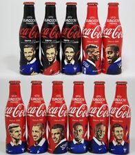 Coca Cola Coke Alu aluminum bottle EURO 2016 France Football player complete set