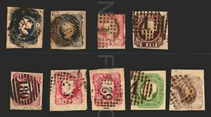 Portugal Classic stamps lot catalogue value +$400 #15 superb postmark cancel 180