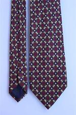 LUCIANO BARBERA Silk Tie. Brown w Gold Lattice Floral. Made in Italy.