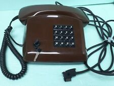 Vintage 1991 KAPSCH Brown Post Office Telephone W/ 2 Keys Good Condition