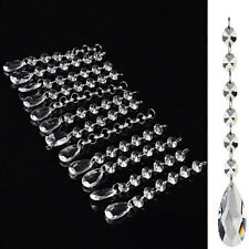 24pc Ceiling Light Lamp Shade Acrylic Crystal Hanging Chandeliers Drops Droplets