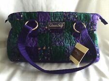 NEW DONNA SHARP TAORMINA PATCH REESE BAG HANDBAG PURSE Purple Green