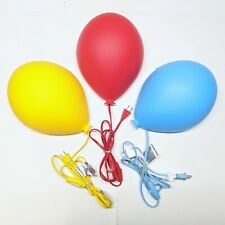 IKEA Dromminge Red Blue & Yellow Balloon Light Wall Lamps Childrens Room Decor
