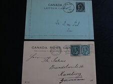 Kanada Lot sechs verschiedene Ganzsachen - b3736