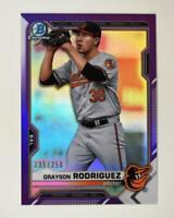 2021 Bowman Prospects Chrome Purple #BCP-118 Grayson Rodriguez /250 - Orioles