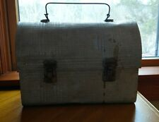 Vintage Pressed Tin Aluminium Metal Thermos Dome Top Lunch Box lunch pail