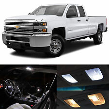 10x White LED Lights Interior Package for 2008-2012 Chevy Silverado