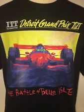 "DETROIT GRAND PRIX T-Shirt 1997 ITT Automotive ""Battle of Belle Isle"" XL Rare"