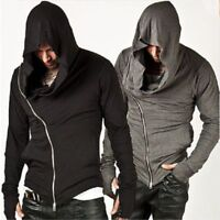 Men's New Fashion Long Sleeve Neck BLACK Scarf Shirt Top motion Outdoor jacket