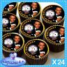 24 X JAMES BOND BIRTHDAY CASINO CUPCAKE TOPPERS EDIBLE CAKE RICE PAPER CC0286