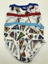 Vintage 1980s Cupid Boys L Underwear Briefs Novelty Baseball Cars Football 3 Pr