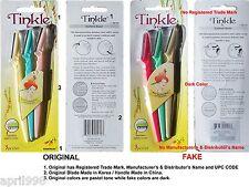 9 pcs/ 3 SETs Original Tinkle Eyebrow Razor Shaver Trimmer Sharper Pro Kit