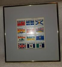 1979 Canada Day Block Sheet of 12  Flag Stamps Matted and Framed