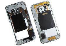 Original Samsung sm-g925f Galaxy S6 EDGE Medio Cubrir vivienda blanco USADO