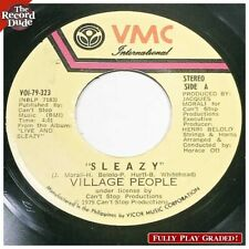 "VILLAGE PEOPLE ""Sleazy"" VMC rare Philippines pressing HEAR disco funk 45"