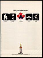 CANADIAN CLUB Whisky- International Symbols 1989 Vintage Print Ad