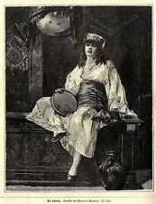 Francisco Masriera, Spanien fue un pintor catalán Die Sklavin antique print 1878